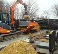 Het ruimen van indiividuele zandgraven